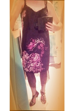 black asos dress - black fully-fashioned What Katie Did stockings