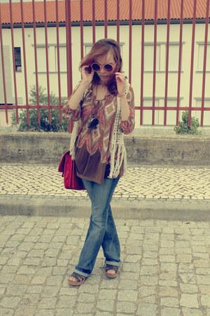 off white crochet vest Felicee Fashion vest - blue Mango jeans