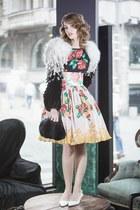 SAGA Fur coat - Manoush dress