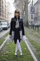 black Zara shoes - black Vladimiro gioia coat - white Zara shirt