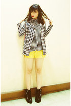 iCandy blouse - Summersault boots - H&M jacket - thrift shorts