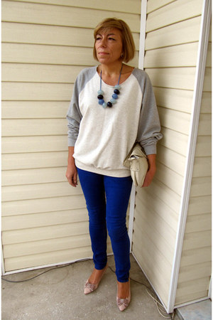 vintage jeans - Uniqlo sweater - new look heels