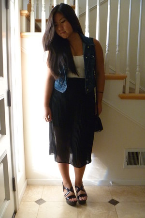 Urban Outfitters bag - Forever 21 top - Nordstrom skirt - Express wedges