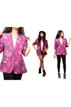 pink vintage blazer