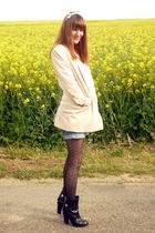 black Chloe boots - pink H&M Trend jacket - black H&M tights