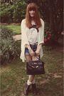 Black-purse-purple-topshop-boots-blue-shorts-blue-levis-white-h-m-t-shir