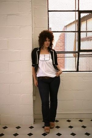 demi curve Levi jeans - cropped cotton Shop Ruche blazer - tan winkles Whittner