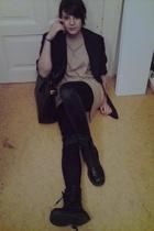 blazer - Zara shirt - Top Shop accessories - orw purse - yellow shoes