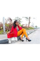 DOT Handbags bag - thrifted vintage blazer