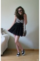 striped Accessorize bag - striped H&M top - Baby Angel skirt - era Vans sneakers
