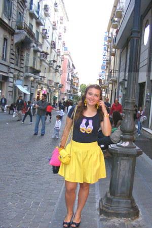 Romeo&Juliet shirt - Zara skirt - albano heels