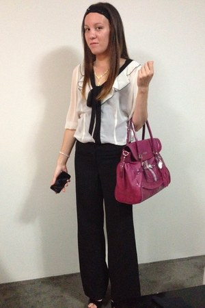 Guess bag - portmans pants - portmans blouse