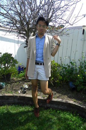 vintage jacket - vintage shoes - Ralph Lauren shorts - American Apparel shirt -