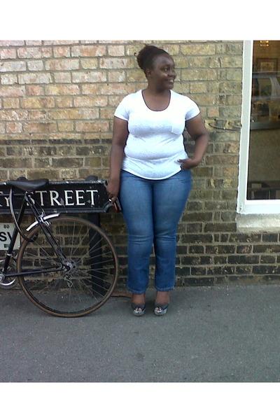 Peacock jeans - Primark top - Debenhams wedges