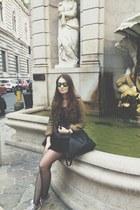 Burberry jacket - Diesel skirt - Italia Independent glasses - Converse sneakers