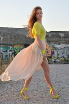 H&M Trend heels - Zara shirt - Zara skirt