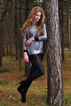 Zara sweater - H&M skirt