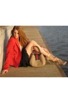 Uterqe heels - Zara blazer - Gucci bag - SuperTrash skirt