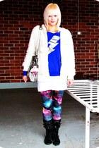 white fluffy hoodie random hoodie - purple galaxy romwe leggings