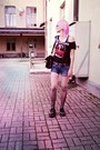 Black-vintage-bag-amethyst-random-tights-blue-diesel-shorts