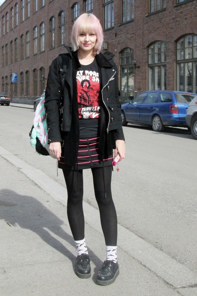black creepers random brand boots - black Iblis coat
