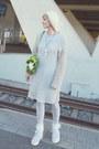 Light-purple-60s-nightgown-vintage-dress-ivory-knit-beanie-vintage-hat