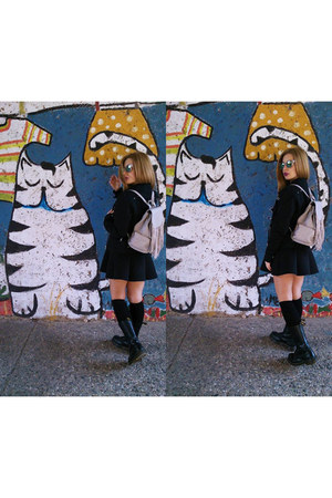 Dr Martens boots - Zara bag - pull&bear skirt