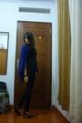 Blue-oversized-unbranded-cardigan-black-point-one-jeans-black-nyla-top