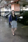White-stripes-skirt-charcoal-gray-bag-black-top-black-moms-belt