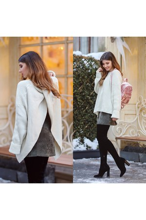 Chicwish sweater - shein bag - Chicwish skirt