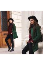 kurtmannro coat - Sheinside coat - Jessica Buurman boots - OASAP hat