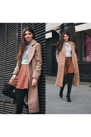 Jessica Buurman boots - kurtmann sweater - OASAP skirt