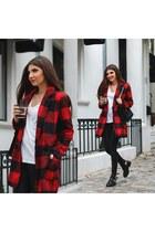Sheinside coat - PERSUNMALL boots - Sheinside leggings - kurtmann bag