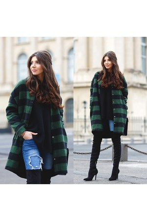 romwe coat - Jessica Buurman boots - Sheinside sweater
