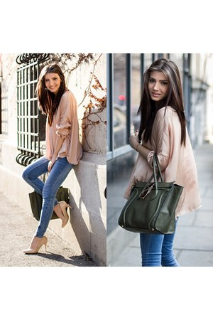 dusty pink Zara blouse