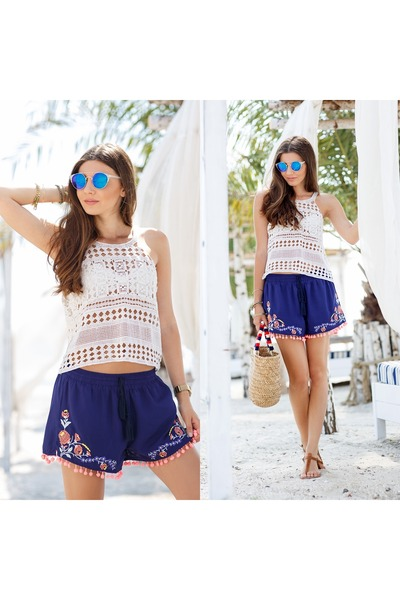 shein shorts - romwe top