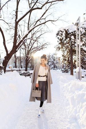 shein belt - Chicwish sweater - shein skirt