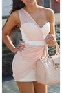 Light-pink-dress-light-pink-bag