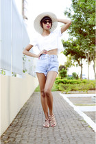 sky blue fashion Levis shorts