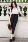 White-crochet-larmoni-top-black-belted-larmoni-pants