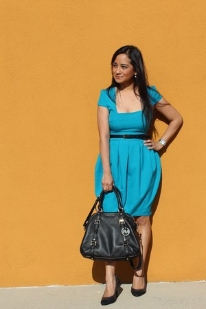 asos dress - satchel Michael Kors bag - Forever 21 belt - Payless pumps