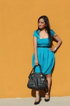 asos dress - satchel Michael Kors bag - Forever 21 belt - Payless pumps
