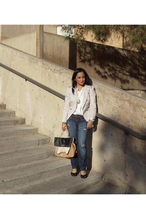 Aldo bag - distressed Charlotte Russe jeans - beige H&M blazer
