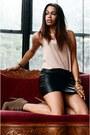 Black-skirt-eggshell-blouse