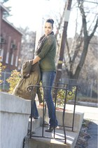 army green Old Navy coat - navy Express jeans - charcoal gray Steve Madden flats