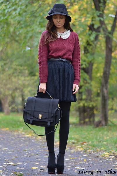 H&M sweater - random brand shoes - Rinnascimento hat - nowIStyle bag