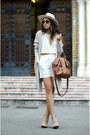 Beige-zara-boots-brown-massimo-dutti-bag-white-front-row-shop-shorts