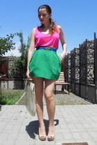 random brand bag - DIY belt - Zara top - Zara skirt - Bershka heels