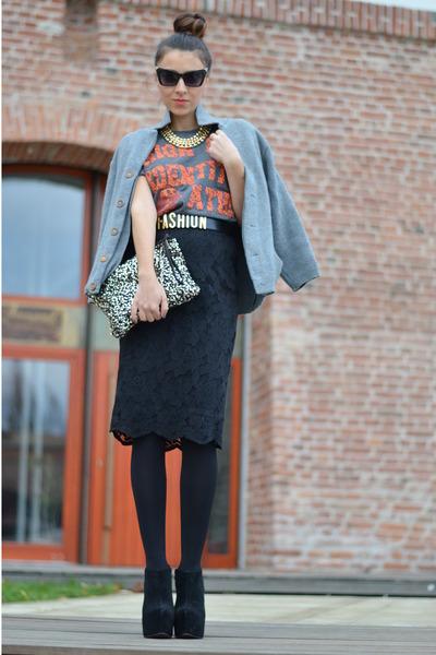 black OASAP sunglasses - black Zara skirt