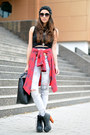 Red-nowistyle-shirt-black-front-row-shop-top